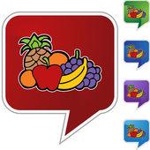 Fruit icon button — Stock Vector