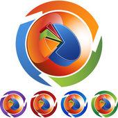 Pie Chart web button — Stock Vector