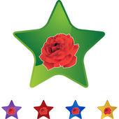 Rose web icon — 图库矢量图片