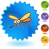 Mosquito web button — Stock Vector