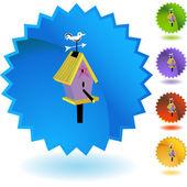 Birdhouse web icon — Stock Vector