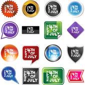 Happy Fourth July web icon — Stock Vector