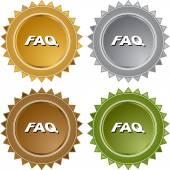 FAQ web icon — Stok Vektör