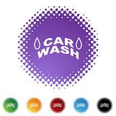 Car Wash  web button — Stock Vector
