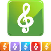 Music Note web button — Stock Vector