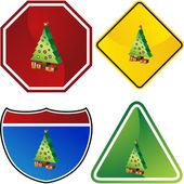Christmas Tree web icon — Stock Vector
