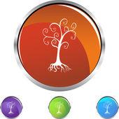 Family Tree button — Stock Vector