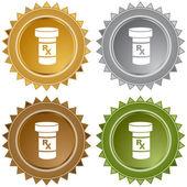 Medication web icon — Stockvector