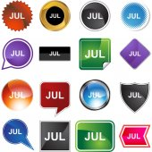 July web button — Stock Vector