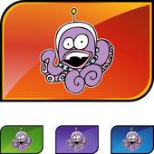 Octopus Alien web icon — Stock vektor