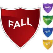 Fall web button — Stock vektor