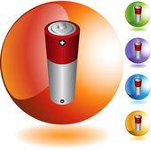 Battery colorful icons — Vecteur