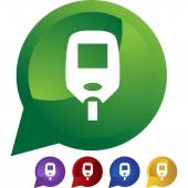 Diabetes Blood Test Monitor icon set — Stock Vector