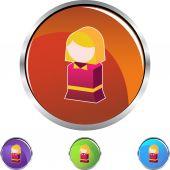 Child web icon — Stock vektor