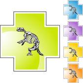 Fossil Bones web button — 图库矢量图片