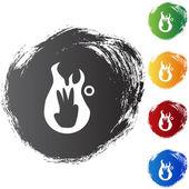 Third Degree Burn web button — Vector de stock