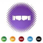 Fist Bump web button — Vettoriale Stock