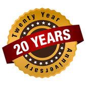 20 Year Anniversary Label — Vecteur