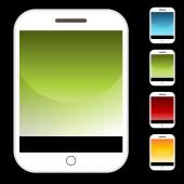Smartphone Button Icon Set — Vector de stock