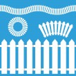 White Picket Fence Icon Set — Stock Vector #67638179