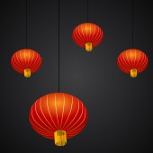 Chinese New Year Lantern Background — Stock Vector