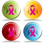 3d Charity Awareness Ribbon — Stock Vector #68376273