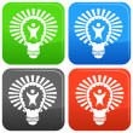 Big Idea Lightbulb — Stock Vector #68372193
