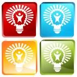 Big Idea Lightbulb — Stock Vector #68373061