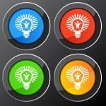 Big Idea Lightbulb — Stock Vector #68373257