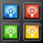 Big Idea Lightbulb — Stock Vector #68373351