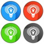 Big Idea Lightbulb — Stock Vector #68374545