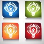 Big Idea Lightbulb — Stock Vector #68376843