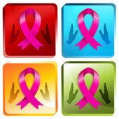 3d Charity Awareness Ribbon — Stock Vector