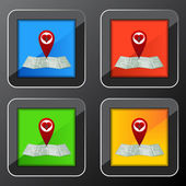 Love Search Button — Stock Vector
