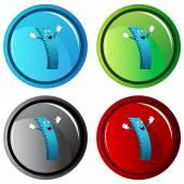 Ruler Character Button — 图库矢量图片
