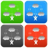 Cloud Technology Icon — Stock Vector