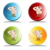 Strong Health Nose Button — Stock Vector