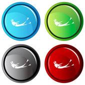 Scuba Kick Button — Wektor stockowy