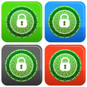 Lock Security Seal — ストックベクタ
