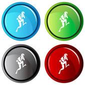 Scuba Jump Button — Stockvektor