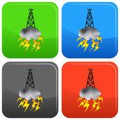 Fracking Oil Rig Symbol — Vettoriale Stock