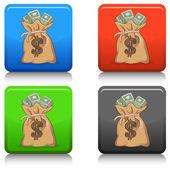 Money Bag web icon — Vecteur