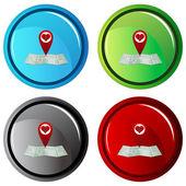 Love Search Button — Vector de stock