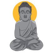 Buddha Statue Icon — Stock Vector
