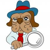 Dog Detective Cartoon — Stock Vector
