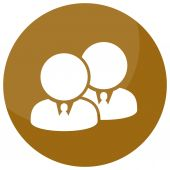 Business Team Partner Icon — Stock Vector
