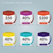 Healthcare Copayment Deductible Icon — Stock Vector