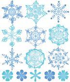 Snow crystals. — Stock Vector