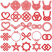 Mizuhiki and Japanese family crests. — Vettoriale Stock