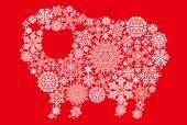 Owce z kryształków śniegu i serwetki. — Wektor stockowy